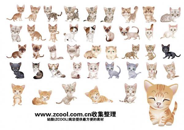 เวกเตอร์แมวสัตว์เลี้ยงน่ารัก