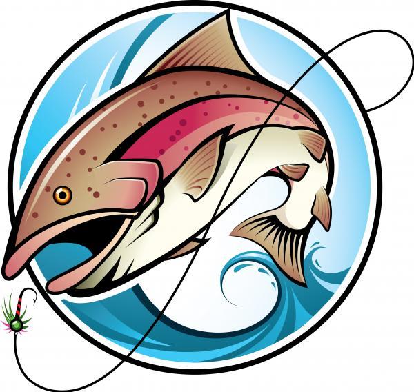 ตกปลา ภาพเวกเตอร์ รูปกราฟฟิกลายเส้น ลายไทย ดาวน์โหลด