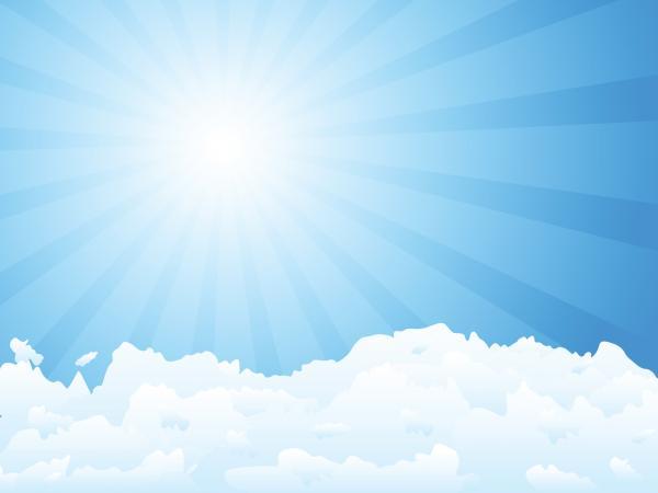 ภาพวิวก้อนเมฆกับพระอาทิตย์