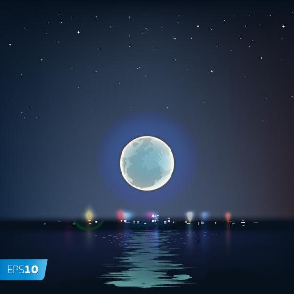 ดวงจันทร์ยามค่ำคืน