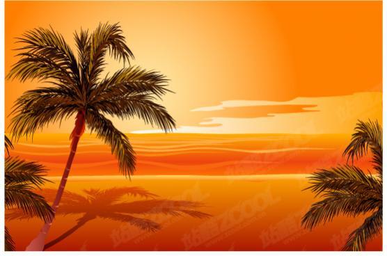 วิวทะเลสีส้ม