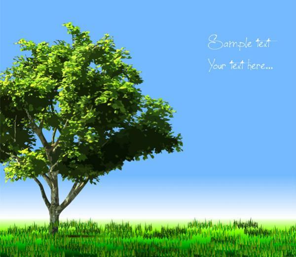 ต้นไม้และทุ่งหญ้า