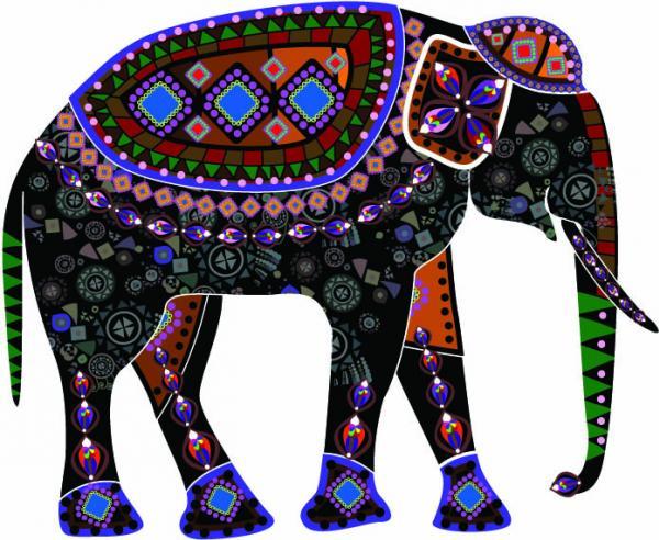 แฟนตาซีศิลปะบนตัวช้าง