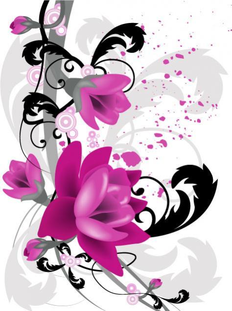 กราฟิกเวกเตอร์ดอกไม้