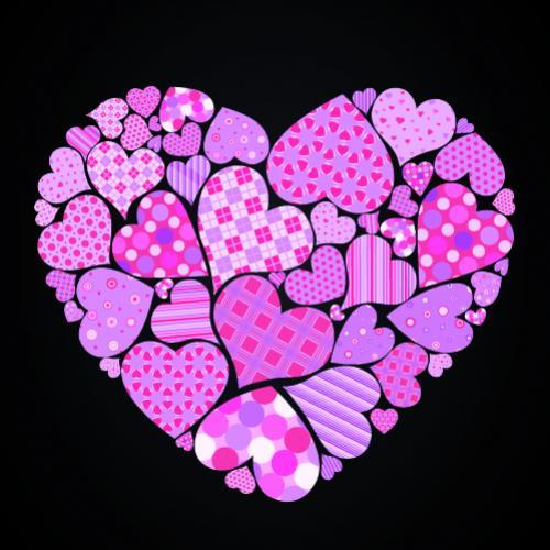 รูปหัวใจดวงโต