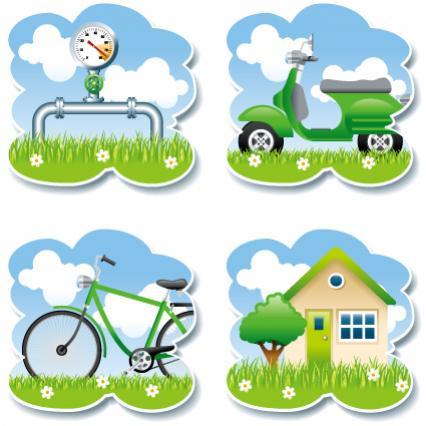 ไอคอนพลังงานสีเขียว