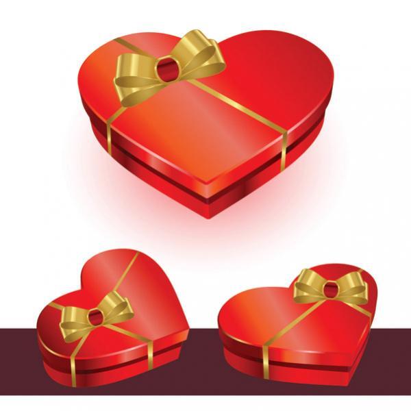 กล่องรูปหัวใจโบว์ทอง