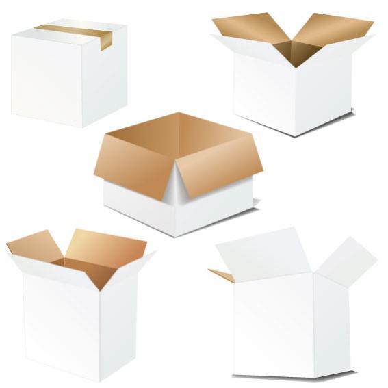 กล่องกระดาษสีขาว