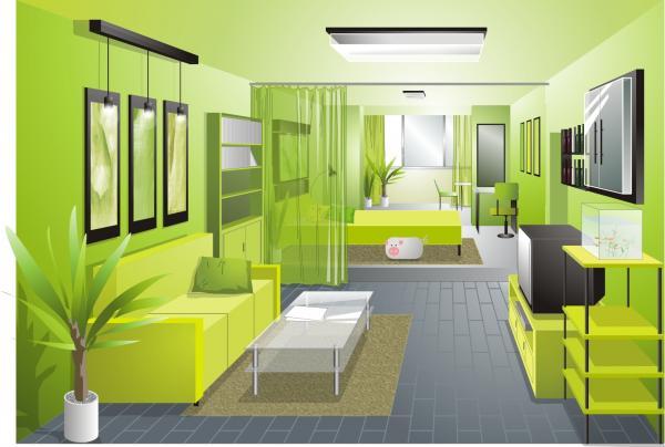 ห้องรับแขกสีเขียว