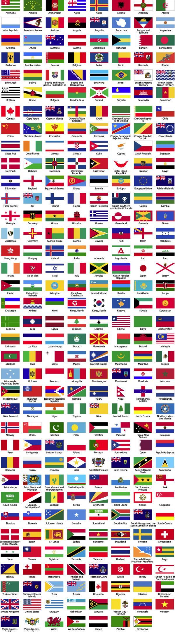 ธงชาติทั่วโลก