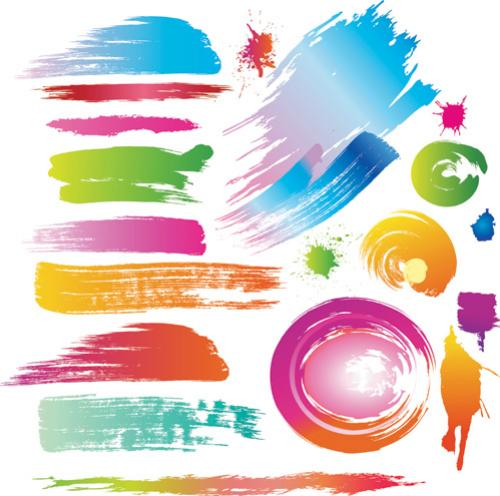สีสเปรย์และแปรงสี