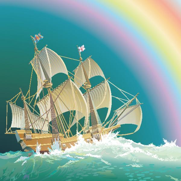 เรือสำเภาและแสงรุ้ง