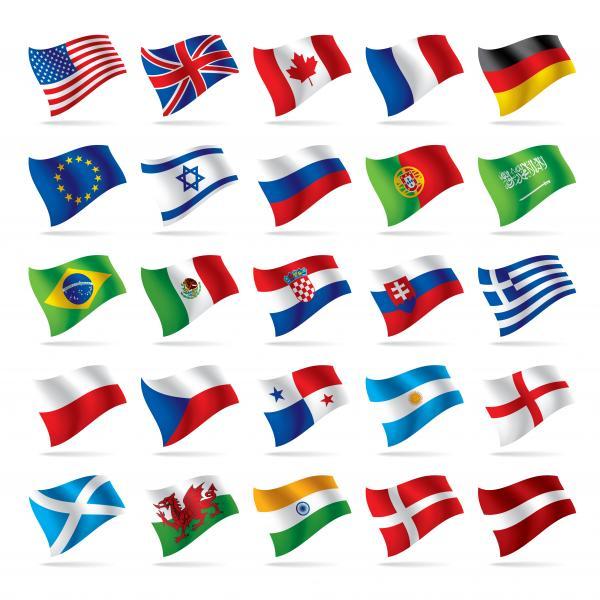 เวกเตอร์ธงชาติต่างๆ