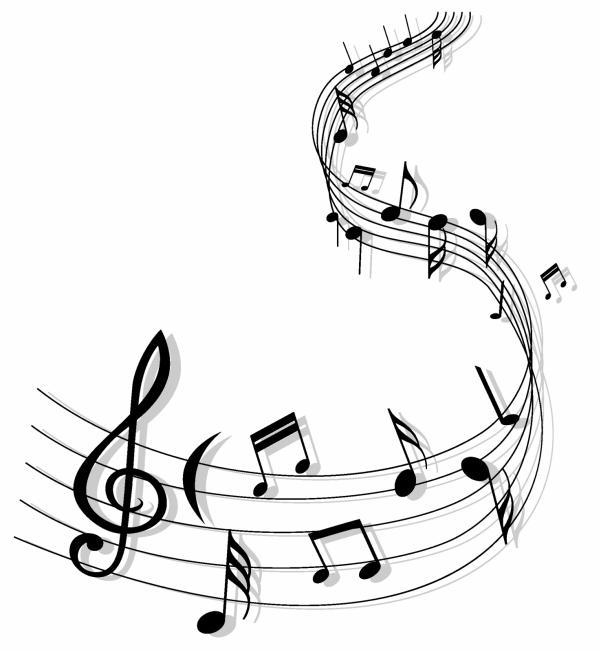 Line Art Music Notes : โนตเพลง ตัวโนต ภาพเวกเตอร์ รูปกราฟฟิกลายเส้น ดาวน์โหลด
