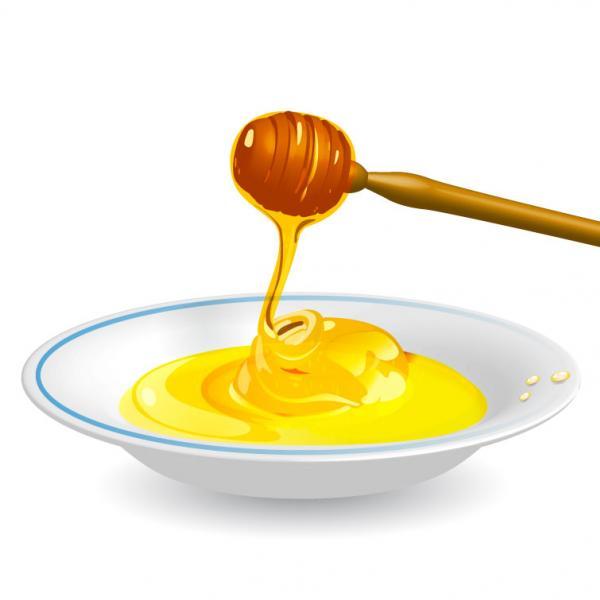 น้ำผึ้งใส่จาน