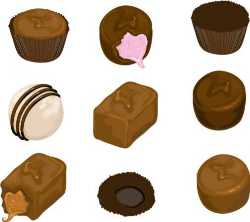 ขนมหวานช็อกโกแลต