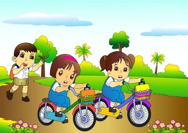 การ์ตูนเด็กนักเรียนไทย