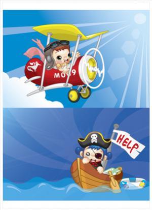 การ์ตูนนักบินและโจรสลัด