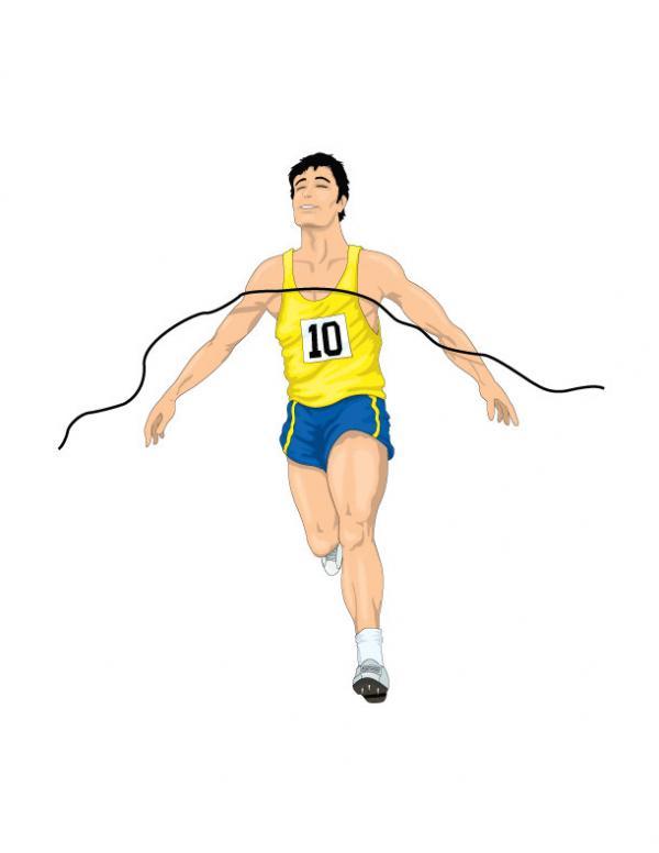 นักกีฬาวิ่งแข่ง