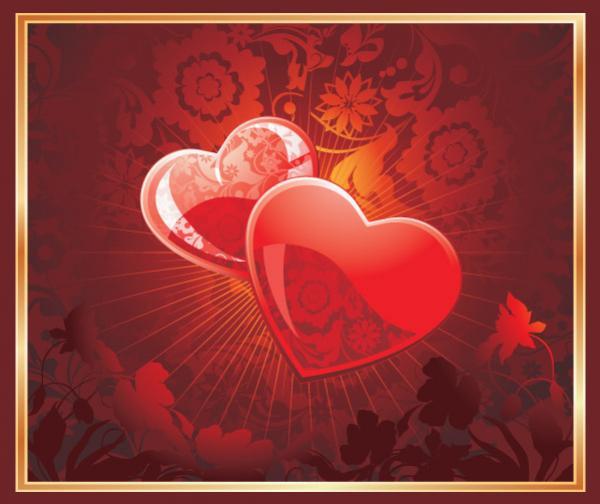 รูปหัวใจ2ดวงใจ