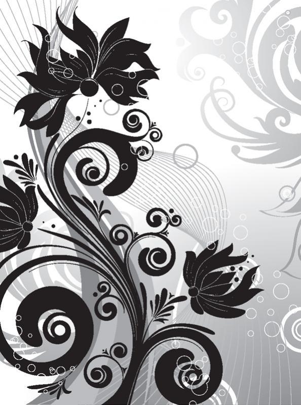 ภาพเงากราฟิกดอกไม้