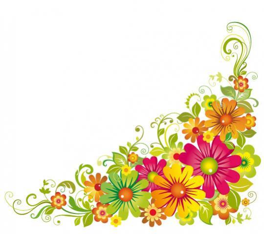 ดอกไม้ ประดับฉาก ภาพเวกเตอร์ รูปกราฟฟิกลายเส้น ดาวน์โหลด