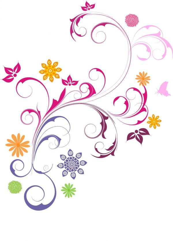 ลายกราฟิกช่อดอกไม้