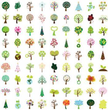 รวมต้นไม้สีสดใส