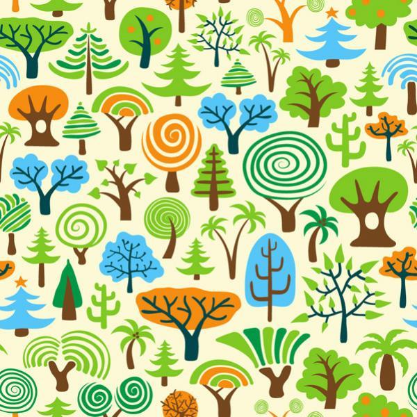 ต้นไม้แบบการ์ตูน