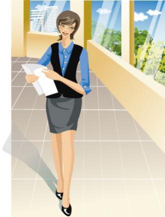 ผู้หญิงถือเอกสาร