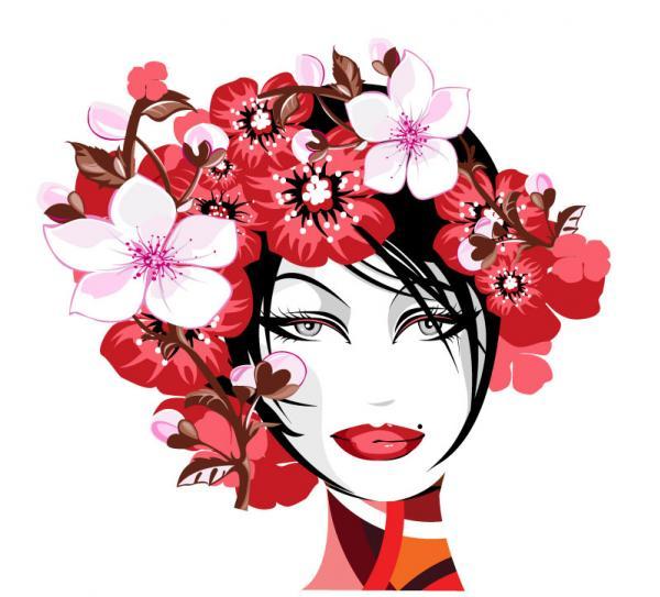 ดอกไม้กับผู้หญิง
