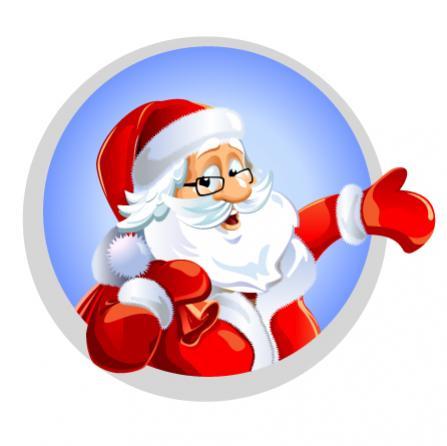 ป้ายการ์ตูนซานตาคลอส