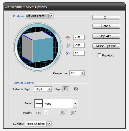 เซตค่า 3D ของข้อความ