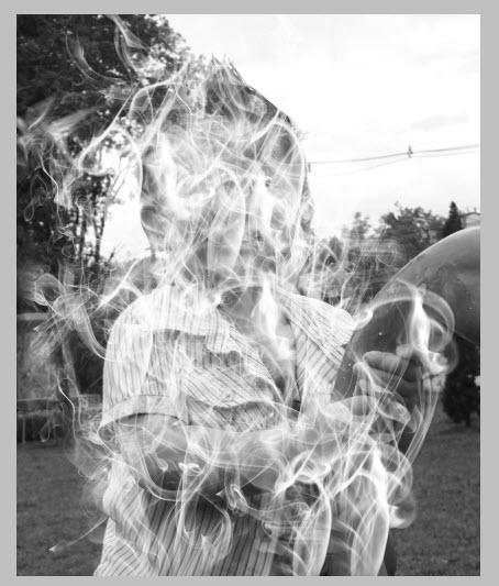 ใช้ Brush smoke กับภาพ