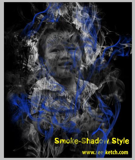 แต่งภาพแบบ Shadow Smoke